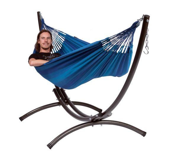 Cama de Rede com suporte para 1 pessoa Arc & Dream Blue