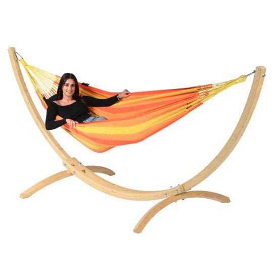 Cama de Rede com suporte para 1 pessoa Wood & Dream Orange