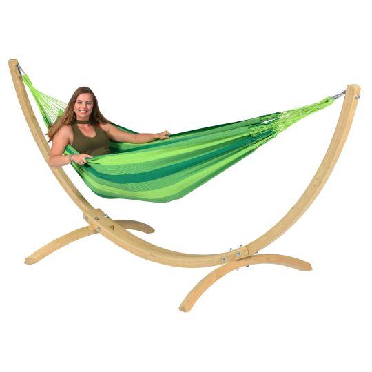 Cama de Rede com suporte para 1 pessoa Wood & Dream Green